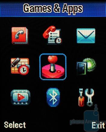 MOTOKRZR K1 - главное меню, отображение ввиде иконок