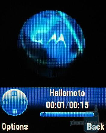 MOTOKRZR K1 - Интерфейс видеоплеера