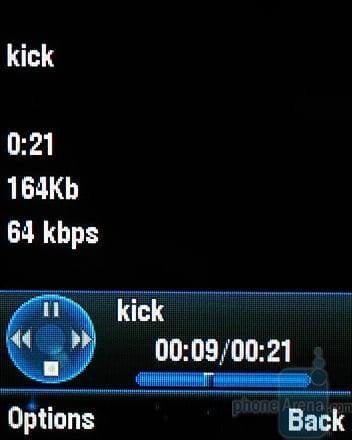 MOTOKRZR K1 - Интерфейс аудиоплеера
