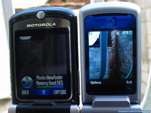 MOTOKRZR K1 - Сравнение с экраном RAZR V3