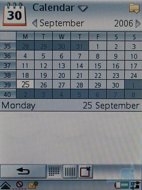 Sony Ericsson P990i - Календарь
