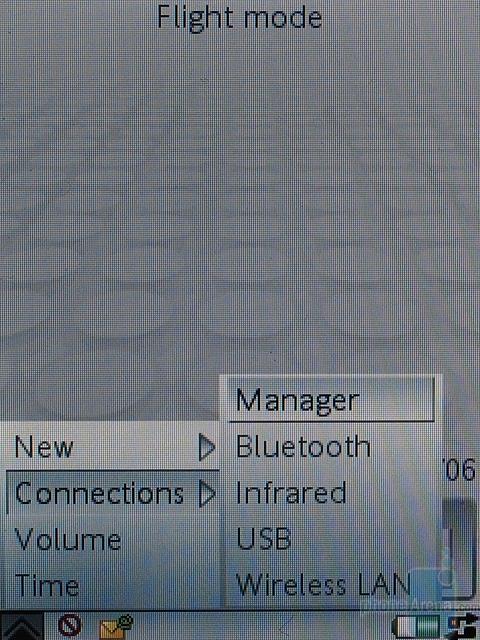 Sony Ericsson P990i - менеджер соединений