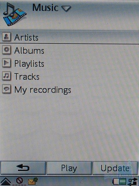 Sony Ericsson P990i - Музыкальная библиотека