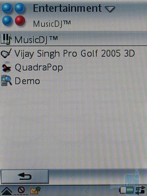 Sony Ericsson P990i - Меню Развлечения