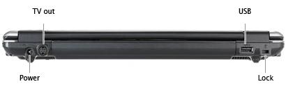Роскошный ноутбук Asus W6Fp, вид тыльной стороны