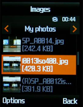 Samsung D830 - Галерея