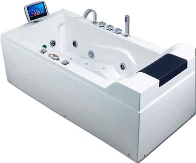 Роскошная ванная с ТВ экраном - The Cosmo