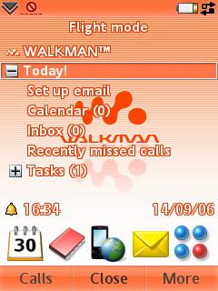 Sony Ericsson W950i - Today развернуто