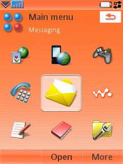 Sony Ericsson W950i - Меню с иконками