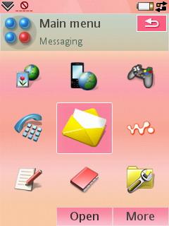 Sony Ericsson W950i - альтернативная тема 1