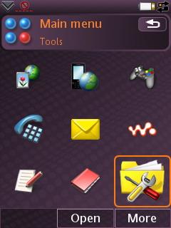 Sony Ericsson W950i - альтернативная тема 2