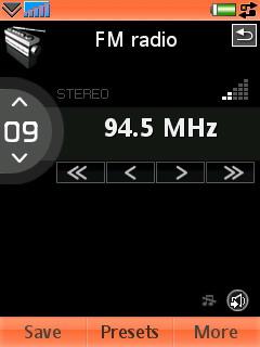 Sony Ericsson W950i - Интерфейс Радио