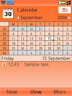 Sony Ericsson W950i - Календарь