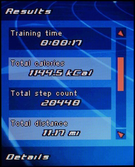 Sony Ericsson w710 - приложения для занятия спортом, пример 1