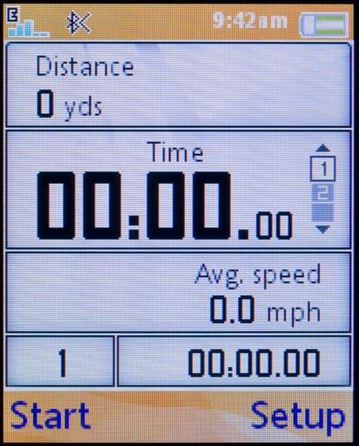 Sony Ericsson w710 - приложения для занятия спортом, пример 3