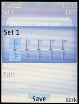 Nokia 5300 - Эквалайзер