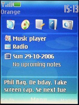 Nokia 5300 - Главное окно
