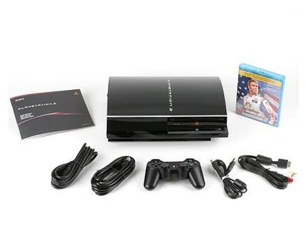 Содержимое коробки 60-Гбайт версии Sony PlayStation 3
