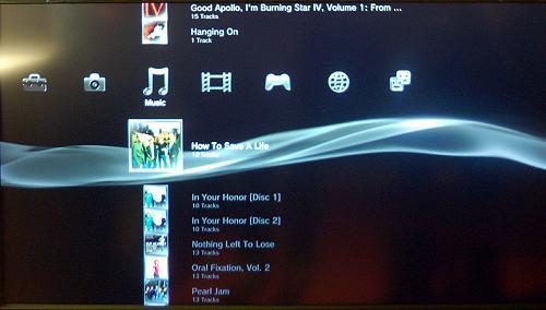 Графический интерфейс PS3: Cross Media Bar