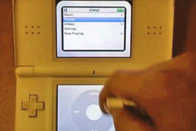 Nintendo DS с плеером iPod