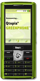Trolltech Qtopia Greenphone на базе ОС Linux