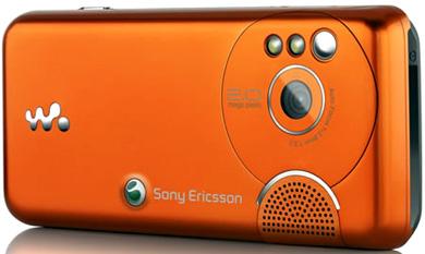 Sony ericsson w610, тыльная панель