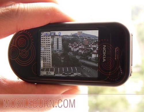 Nokia 7373 - съемка в горизонтальнойм положении