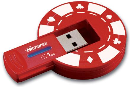 USB-накопитель в виде фишки для покера