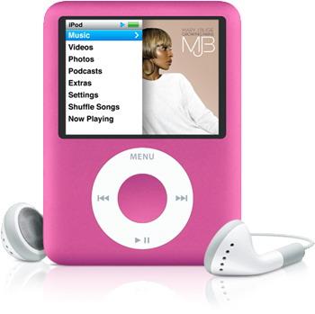 Ipod nano pink 0