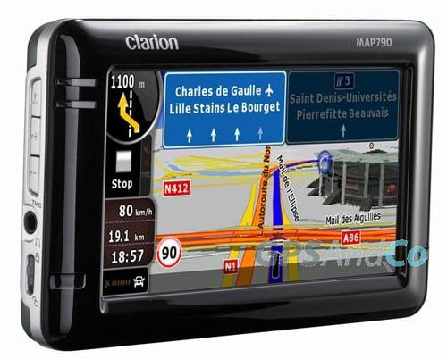 CeBIT 2009: GPS устройства Clarion MAP 690 и Clarion MAP 790