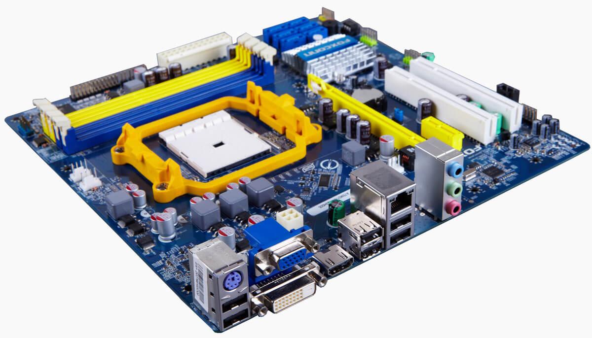На плате установлен процессорный разъем amd socket fm1