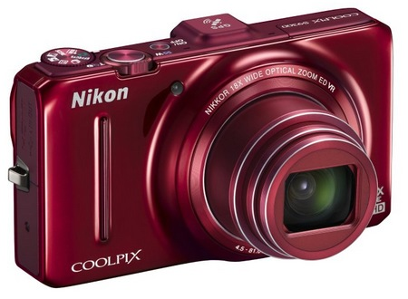 Nikon-CoolPix-S9300-Compact-Long-Zoom-Camera-with-GPS-red