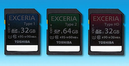 Карты памяти Toshiba-Exceria