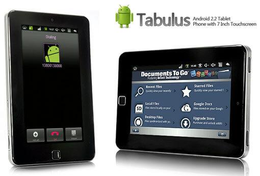 Китайский планшет Android 2.2