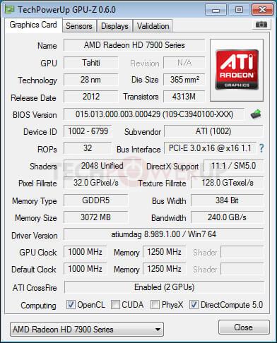 Характеристики AMD Radeon HD 7990