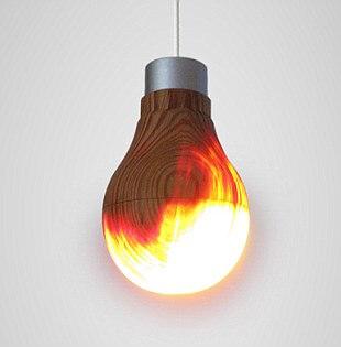 Деревянная лампа - 1