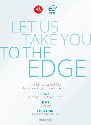 Приглашение на пресс-конференцию Motorola