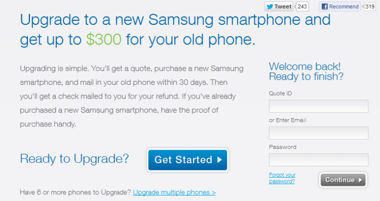 Samsung массово скупает старые телефоны