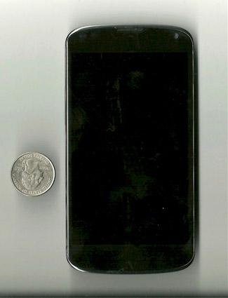 LG Nexus 4 - вид спереди