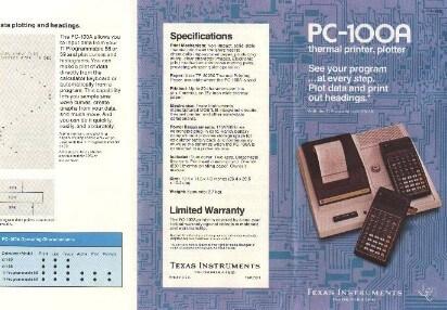 Брошюра принтера PC-100A