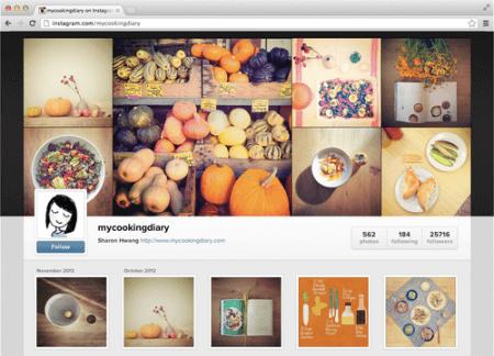Instagram - веб-страница пользователя