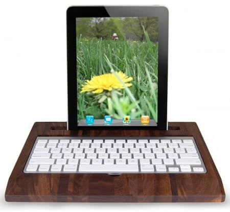 Беспроводная клавиатура из дерева для iPad