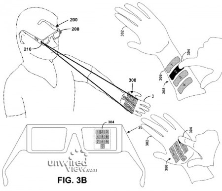 Виртуальная клавиатура Google Glass