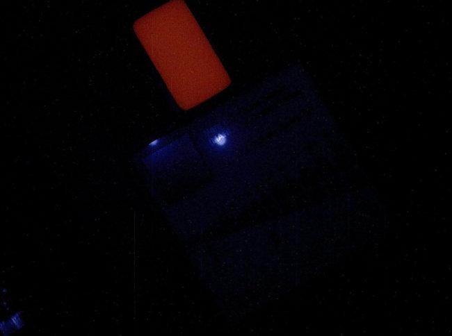 Калибровочный объект в ультрафиолете