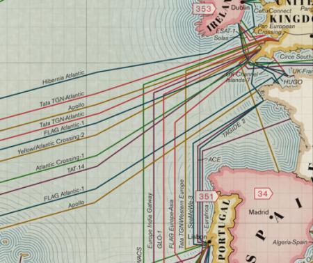 Карта подводных интернет-кабелей