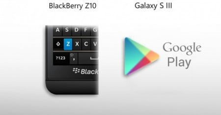BlackBerry Z10 vs Galaxy S III - особенности