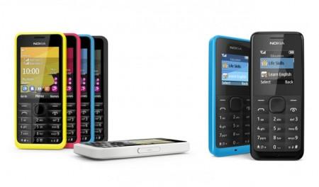 Nokia 105 и 301