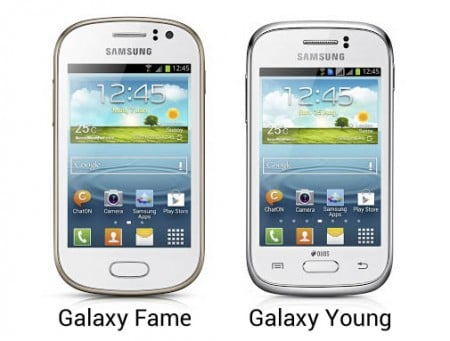 Samsung GALAXY Fame и Young
