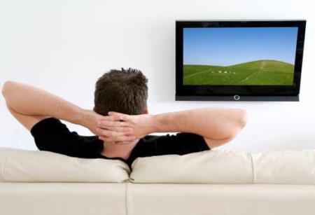 Мужик перед ТВ