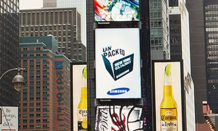 Samsung ad in New York